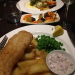 Beer battered cod and (further from camera) Herb crusted cod