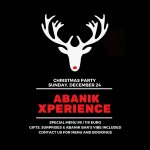 Come to Abanik Bar and try our unique Xmas Xperience with gifts, show and delicious food. check