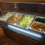 View the very nice dinner buffet