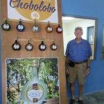Tom and Chobolobo Curacao Liqueur. Yum!