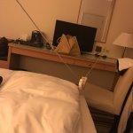 verleng kabel om stroom bij het bed te hebben