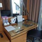 Room desk.