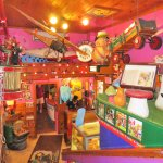 Amazing interior..this is a restaurant not a toy shop