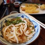 Spicy Chicken Udon and Tempura