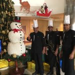 Great home cooked snowman in Dubai Crowne Plaza!