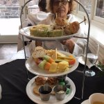 Afternoon tea - I felt like the Dowager Countess from Downton Abbey.