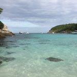 Crystal clear water at Batok Bay