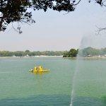 A solar powered Shikara in the lake