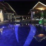 Nightime around the Pool