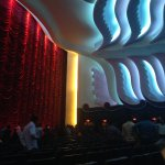Inside the film theatre room
