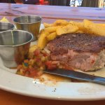 the lookout deck ,super tuna steak