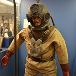 Diver's pressure suit. I would be claustrophobic in that!