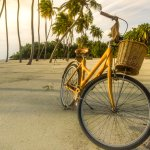 Getting Around Gili on your Own Bamboo Bike