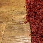 Teppich am Ausfransen