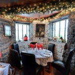 Christmas decoration & beautiful room overview at Finnegan's Restaurant & Wine Cellar