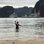 Swimming in Ha Long Bay