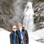 One of the great pictures taken by the waterfall up on the glacier!