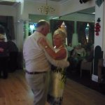 In the entertainments room, dancing the last waltze.