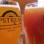 A wheat bear and IPA from upstream