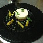 White chocolate and orange cheesecake