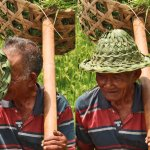 Tegalalang Rice Terrace. Worker