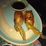 Stuffed chicken wings appetizers (bigger than they look).