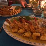 Baja Shrimp in the foreground