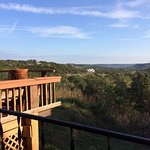 View of the Texas Hill Country from the balcony in the King Deluxe room.