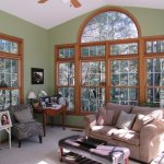 Sunroom with great views of the ravine.