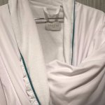 Luxurious Frette linen robe to use during my stay