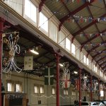 Christmas decorations in the Pannier Market