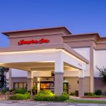 Hotel Exterior of the Hampton Inn Houston Stafford