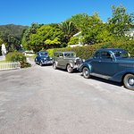 Guest travelling around Coromandel Great parking for classic cars