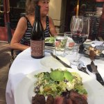 Great Steak Salad & WIne at the Grill!