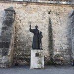 Statue in central square Havana