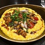 El pollo y el risotto