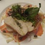 cena, carpaccio de salmon