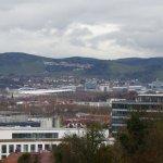 Blick von der Weißenhofsiedlung auf Stuttgart