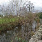 The river which runs along the back of the Inn
