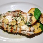 Grilled Wild Sea Bass Fillet with ginger and potatoes