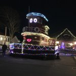 Tug Boat at Christmas, was even cuter with all the lights on they blink.