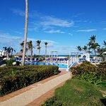 pool, beach and blue sky paradise