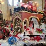 Christmas train ride and display
