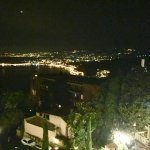 Night view to the gulf of Taormina