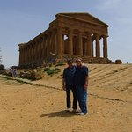 My Husband and best man Bobby G. at the Temple! in Agrigento