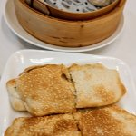 Sesame cake/pork, dumpling with soup
