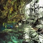 First cenote - half open and plenty of room to explore while you get used to your surroundings.