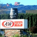 A & W Rootbeer, St. Helena, Napa Valley, Ca