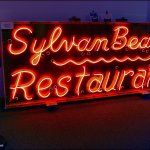 Sylvan Beach Restaurant Neon Sign, Inside Bridgehead Inn Visitor's Center, MO West of Eureka