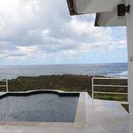 private pool in the villa.